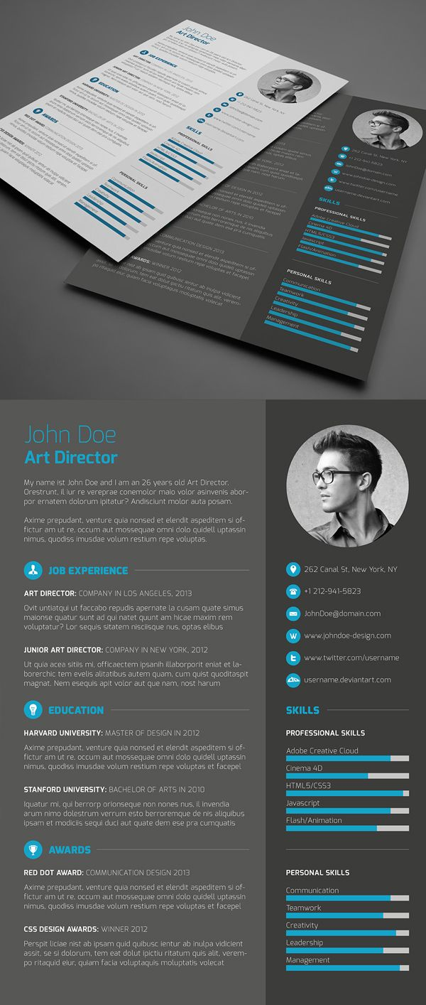 3-Piece Resume CV Cover Letter | Logo inspiration | Pinterest | Cv ...