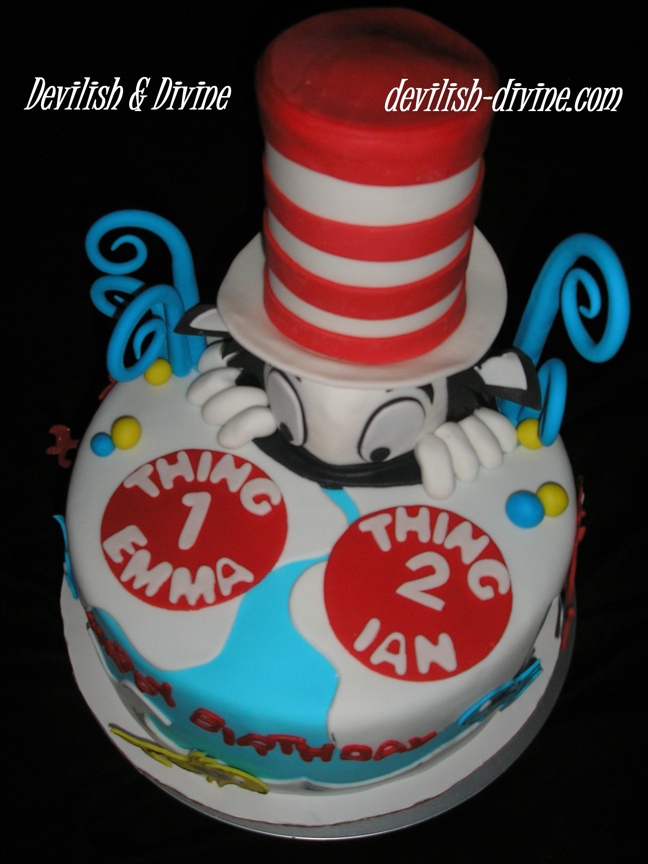 Top view of Dr Seuss cake 3D Carved cakes Pinterest Dr