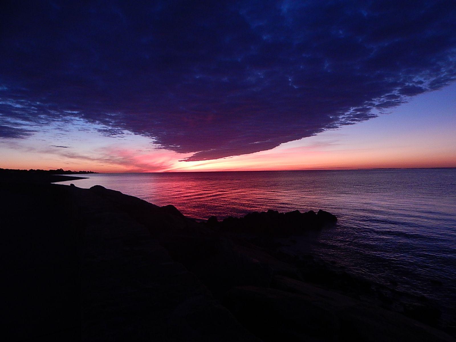 sunrise at russian beach