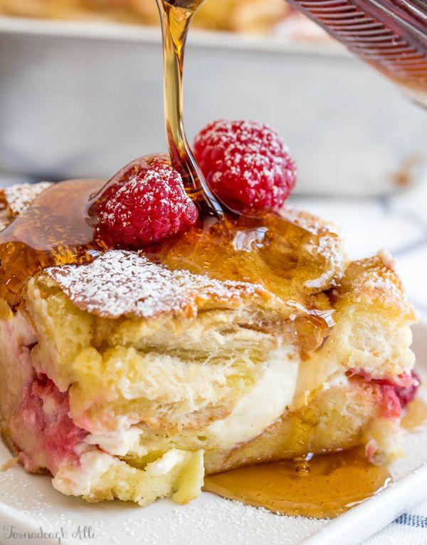 Photo of Overnight Raspberry Cream Cheese French Toast Bake