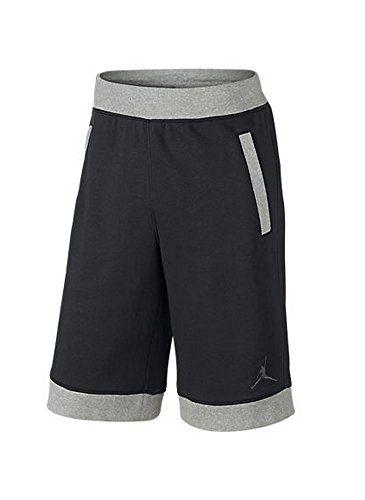 4a600e85235c18 NIKE  642453-010  Air Jordan Fleece Short Apparel Apparel Air Jordanblack  Grey.  nike  cloth