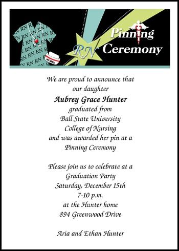 voted best ceremony invitations for nursing graduation with caduceus and large discounts on graduation announcements for - Graduation Ceremony Invitation
