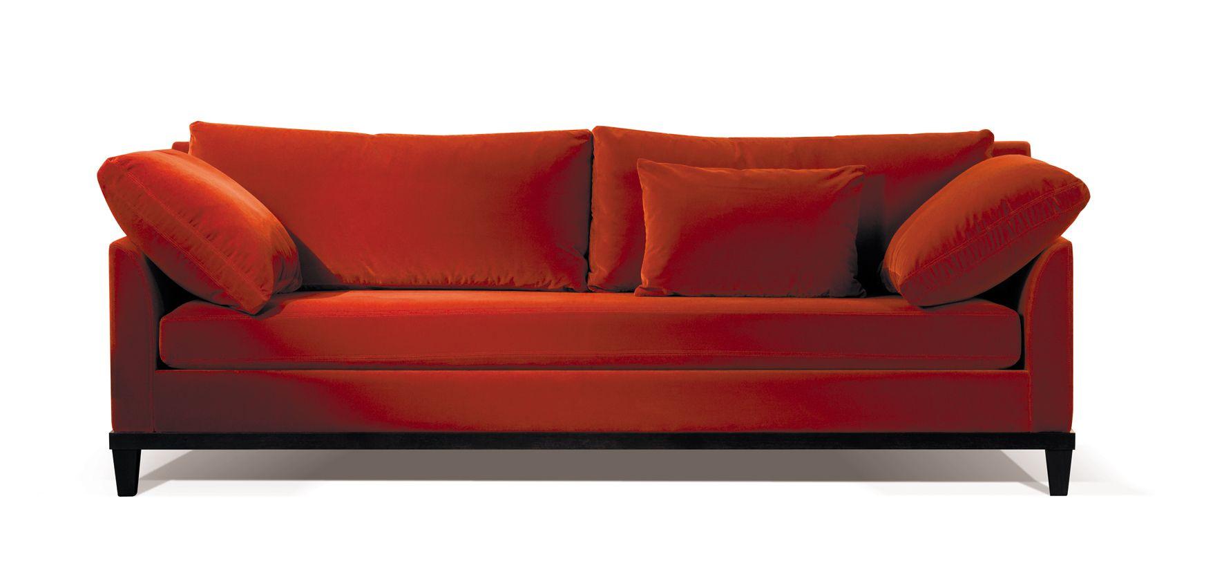 Canape En Velours Rouge Signe Duvivier Le Haut De Gamme 100 Made In France Modele Decline En Tissu Et En Cuir Coup De Sofa En Velours Canape Duvivier Canape