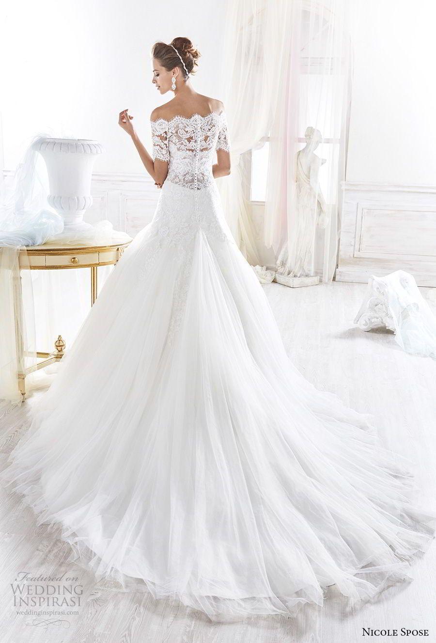 Nicole 2018 Bridal Collection Princess Ready Wedding Dresses Wedding Inspirasi Wedding Dress Accessories A Line Wedding Dress Sheer Wedding Dress [ 1326 x 900 Pixel ]