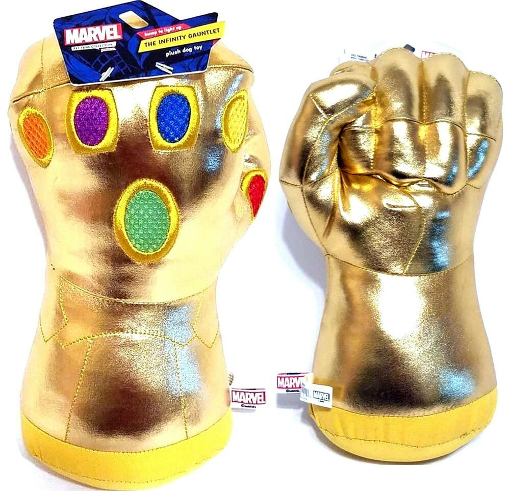 Marvel Avengers Thanos S Infinity Gauntlet Light Up Dog Toy Large