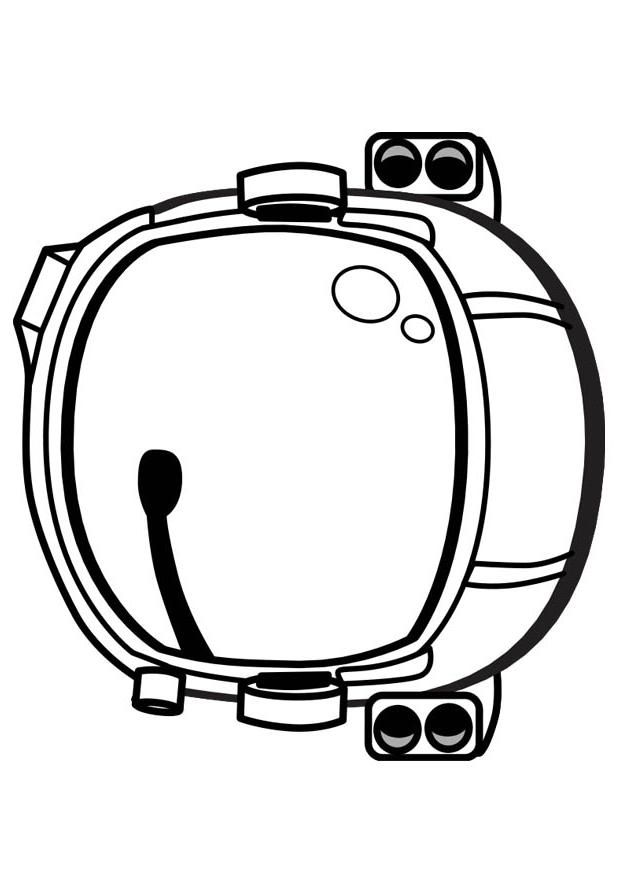 Coloring Page Astronaut Helmet Img