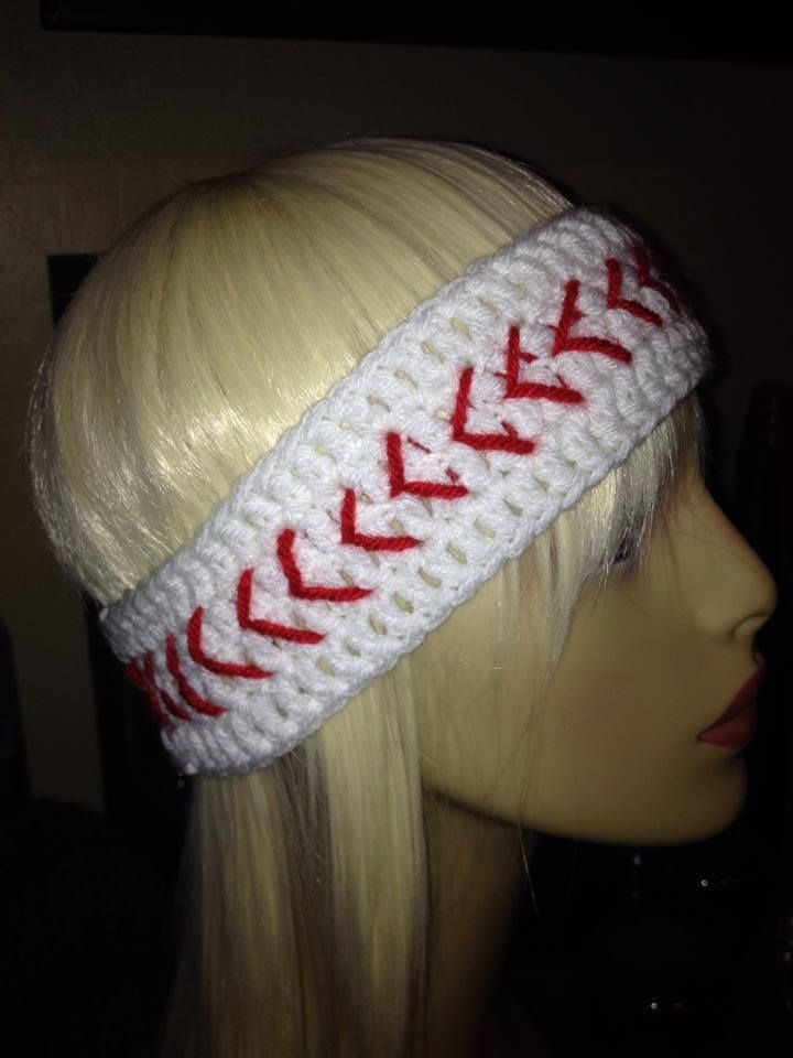 EZ PZ Earwarmer Baseball Sofball   Crochet #2   Pinterest