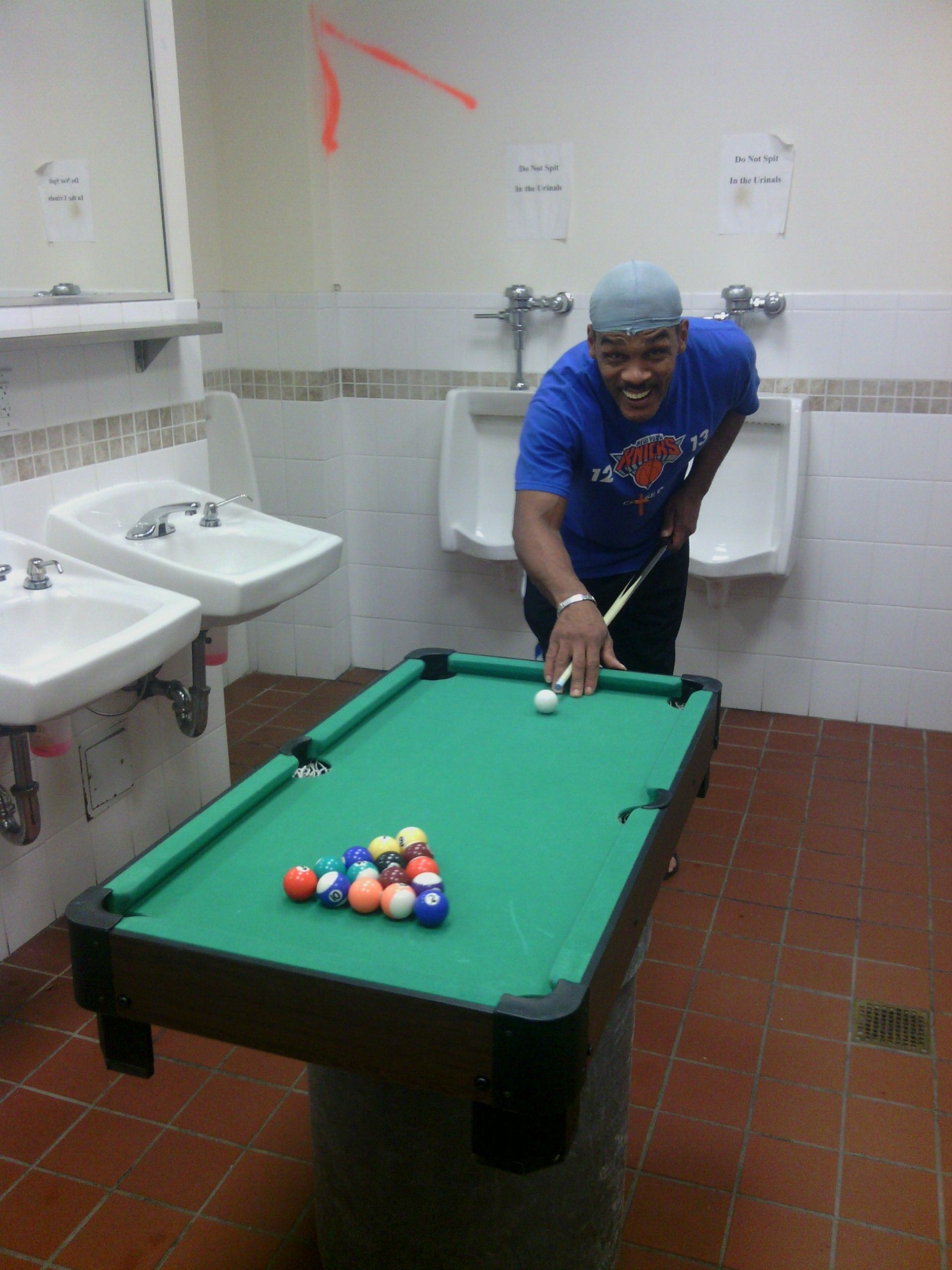 Portable Pool Table Shipped To The NYC Resuce Mission For - Pool table nyc
