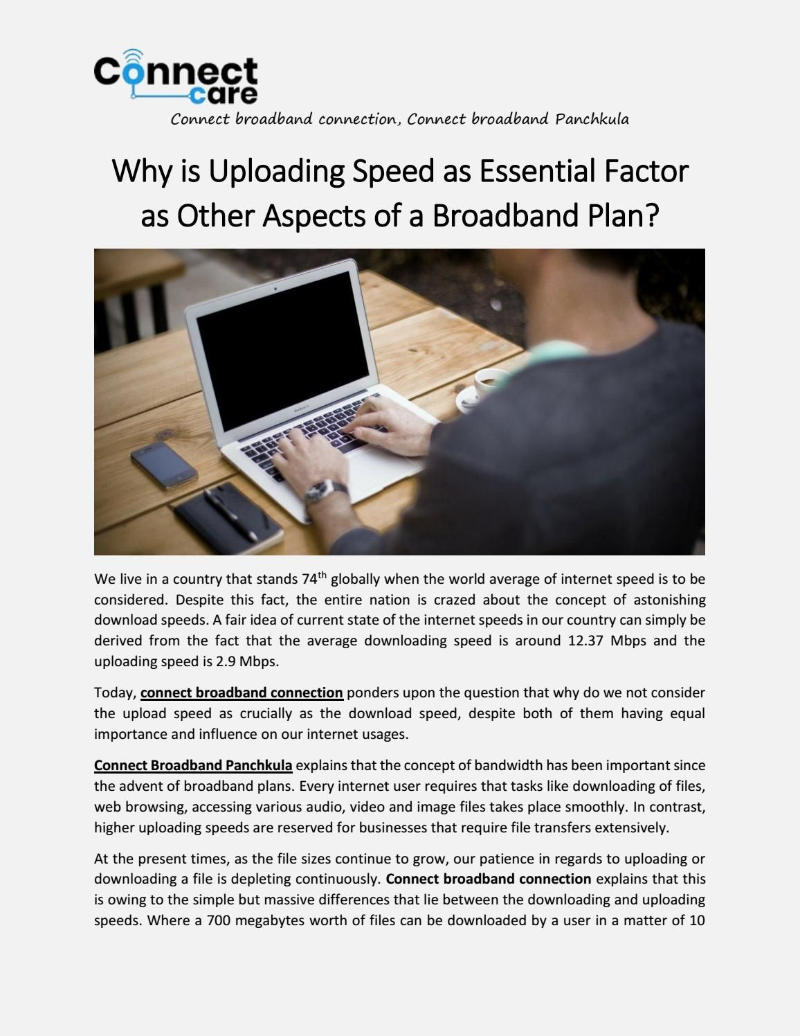 Why is uploading speed as essential factor as other