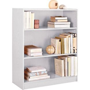 Maine Small Extra Deep Bookcase White At Argos Co Uk Your