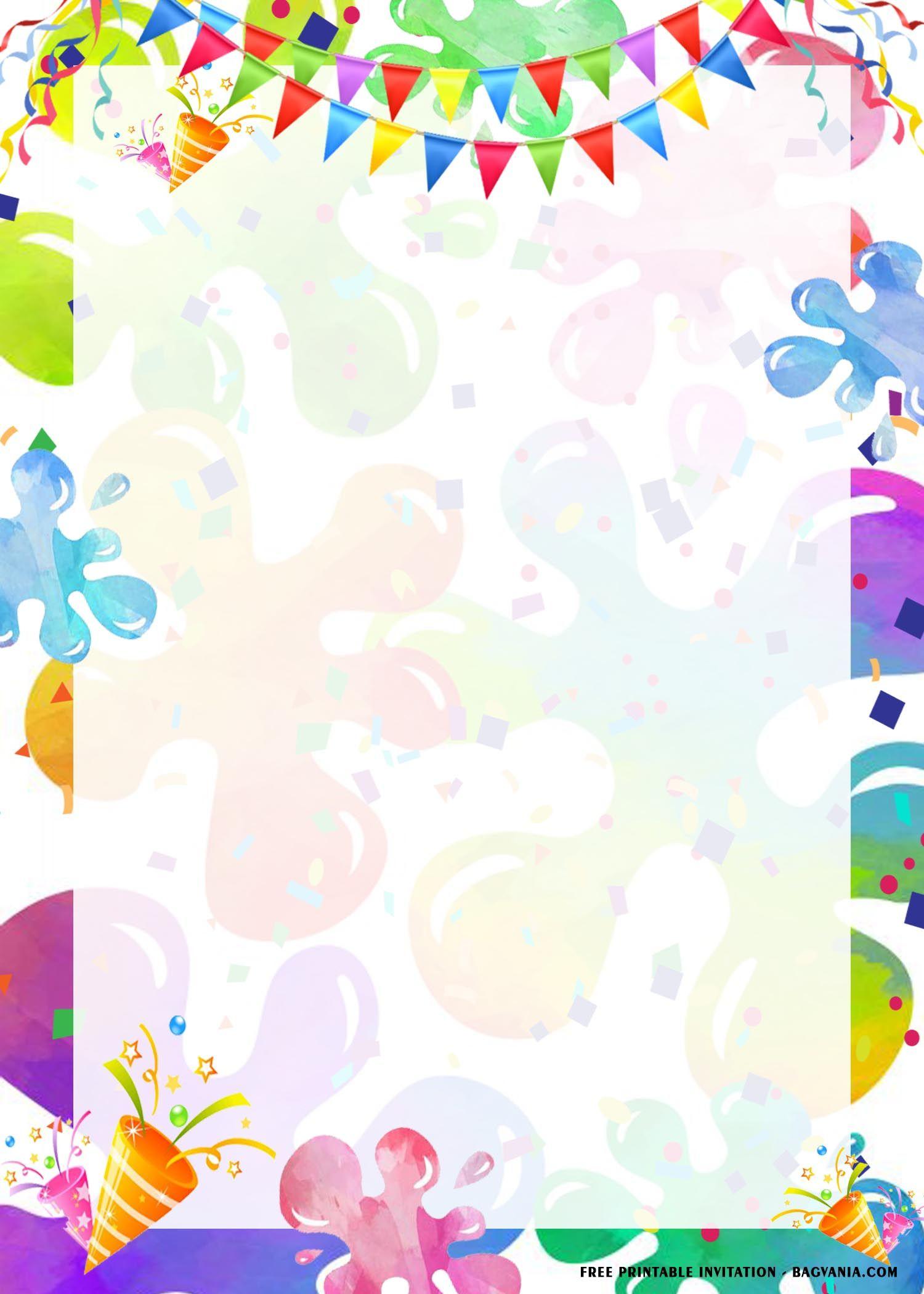 FREE Printable) - Slime Birthday Party Invitation Templates