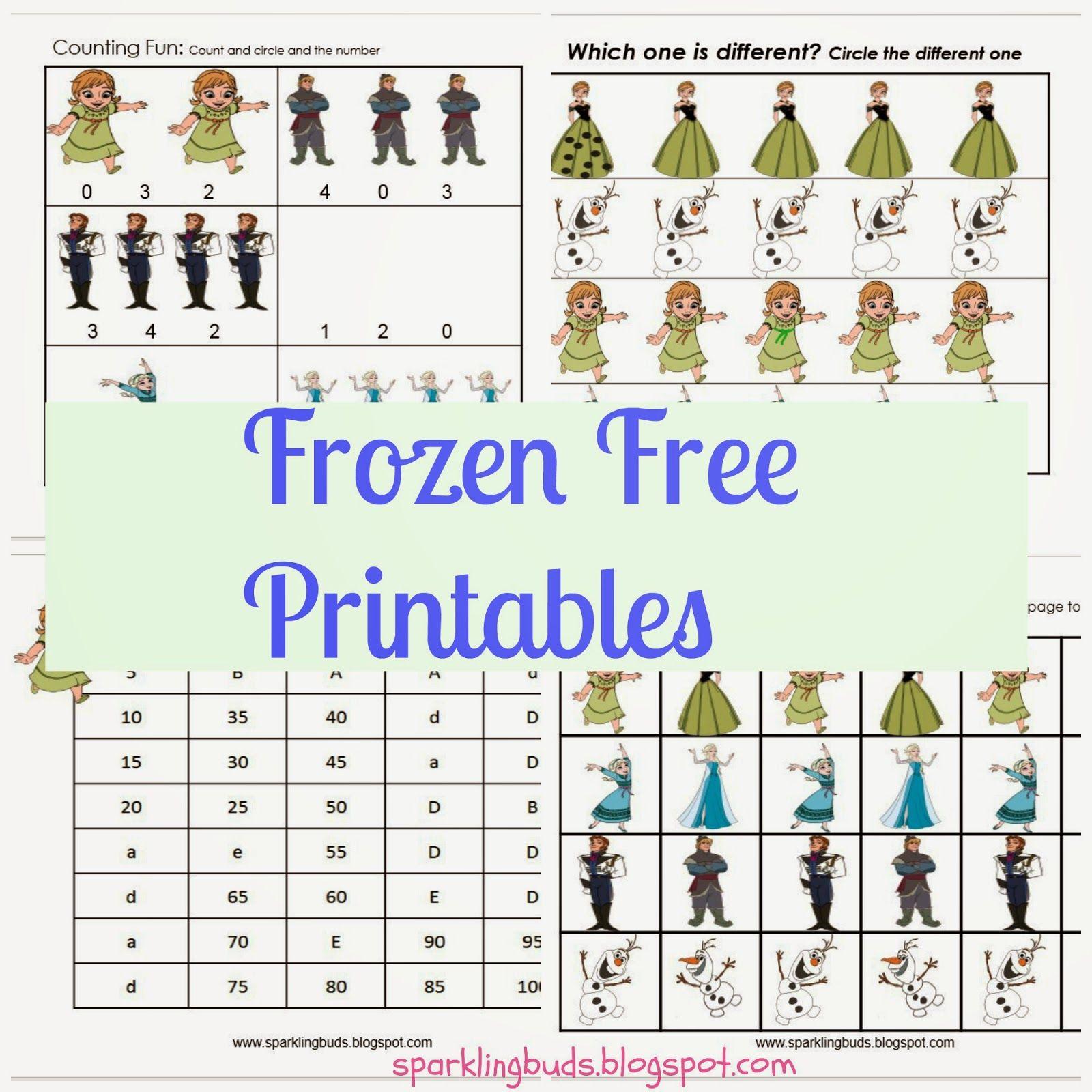 Frozen Movie Free Printables Frozen movie, Summer