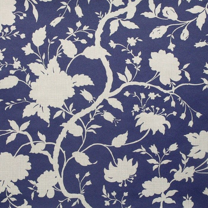 Botanical floral wallpaper by kelly hoppen designer blue for Blue wallpaper designs