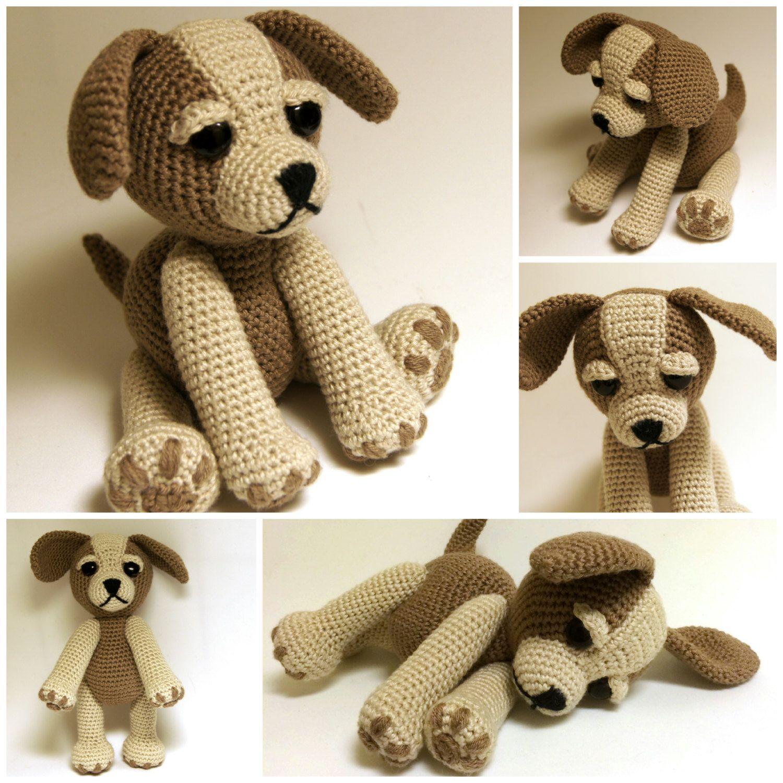 Crochet Pattern - Sammy the Puppy Dog, Crochet dog, crochet Animal ...