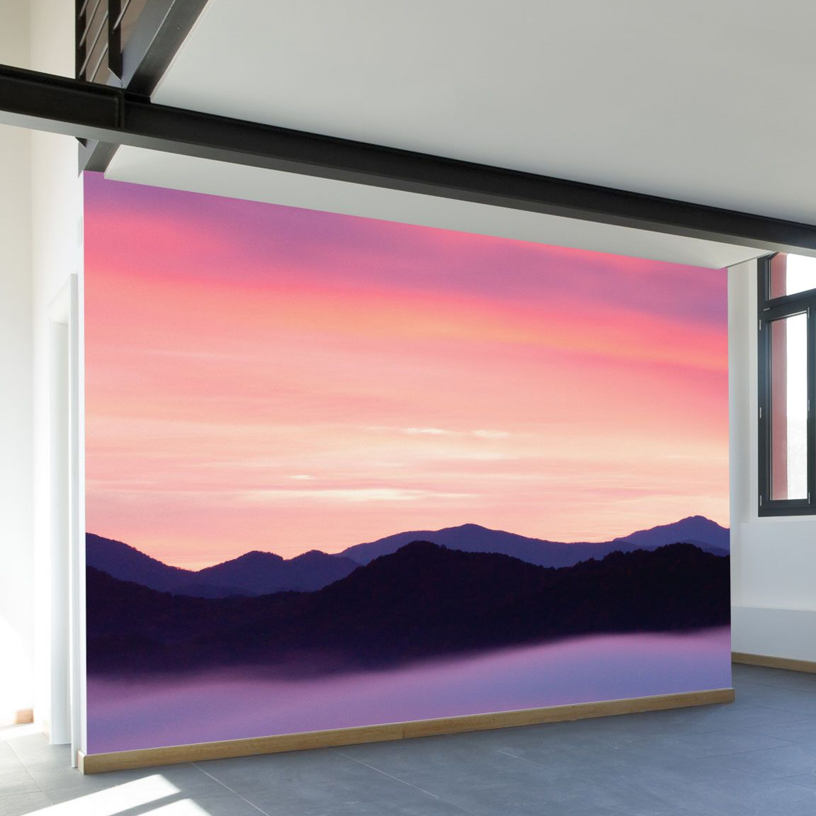 Paul Moore's Rocky Mountain Sunset Mural wall decal ...