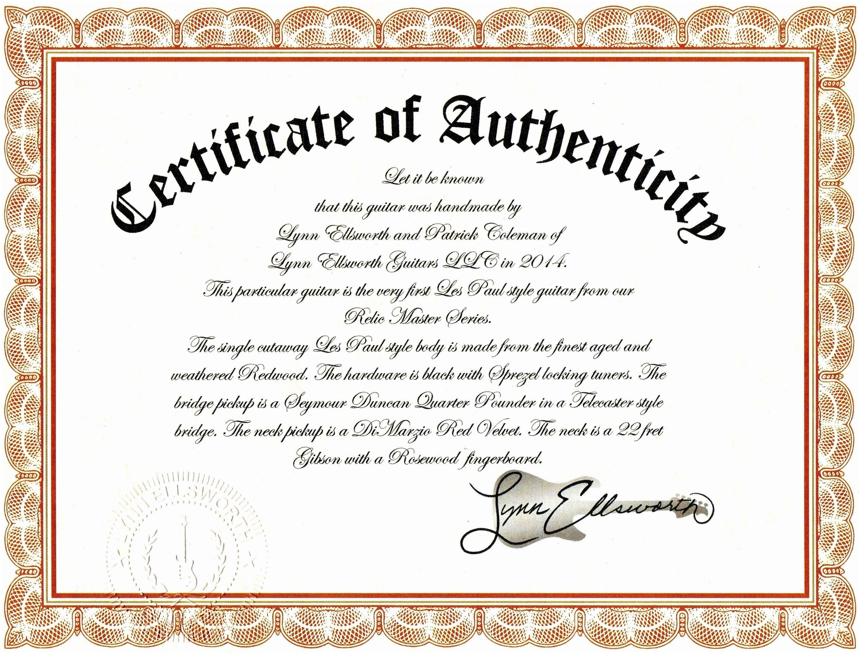 25 Certificate Of Authenticity Artwork Template In 2020