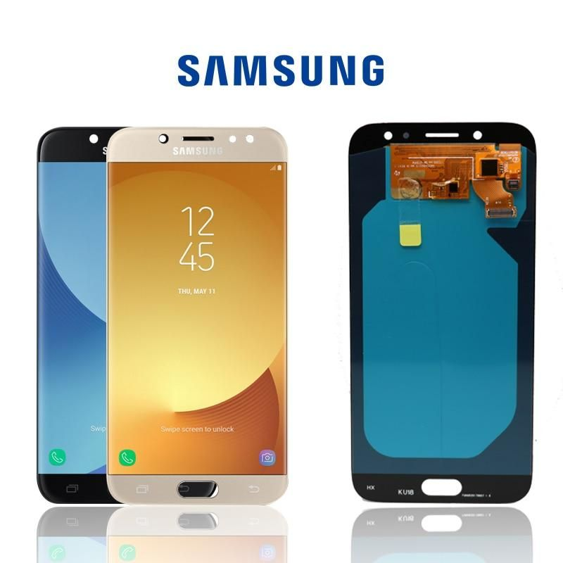 Original Lcd Samsung Galaxy J7 Pro Display Touch Screen Replacement Temperedglass Replecment Parts Batterie Screen Protector Iphone Samsung Samsung Galaxy