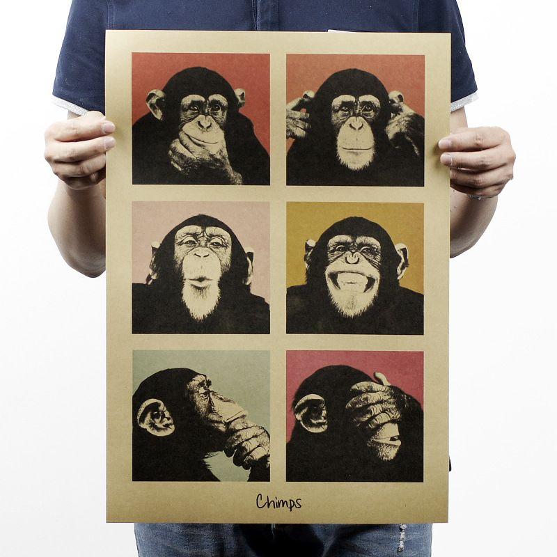 Vintage poster Gorilla Movie poster wandaufkleber, bar retro - bar f rs wohnzimmer