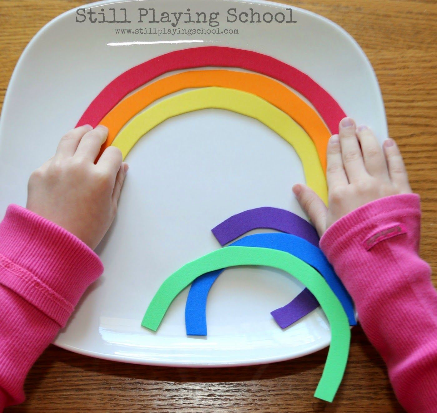 Rainbow Name Puzzles For Kids