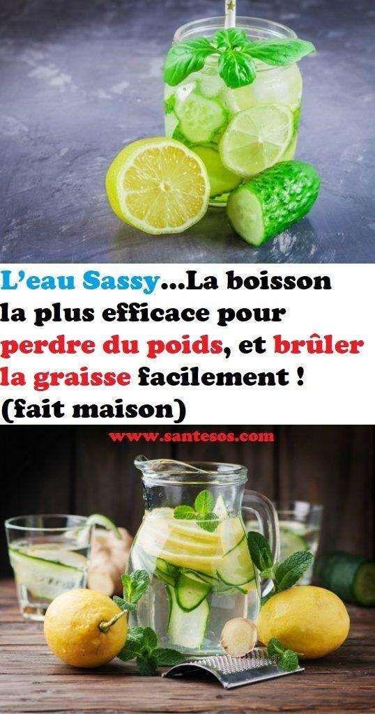 L'eau Sassy…La boisson la plus efficace pour perdre du