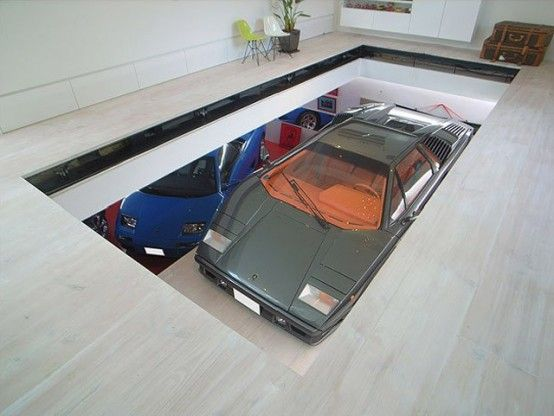 House with 9 cars garage and lamborghini in the living room digsdigs