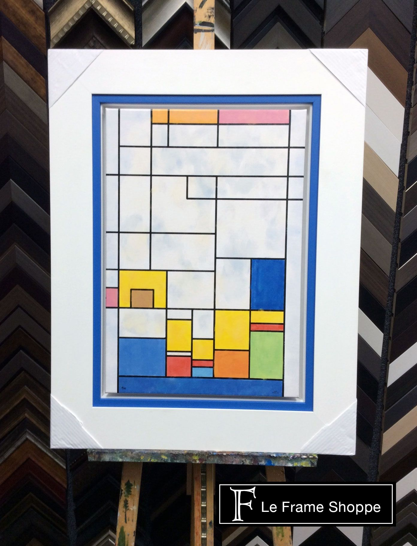Make an #oil pop by adding a coloured accent mat to your #framing ...