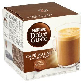 Nescafe Dolce Gusto Cafe Au Lait Coffee Pods 16 Servings