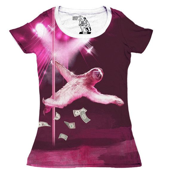 Popular Gifts For Her Part - 40: Looking For The Perfect Sharp Shirter Stripper Sloth Womenu0027s Scoop Tee?  Please Click And View This Most Popular Sharp Shirter Stripper Sloth Womenu0027s  Scoop ...