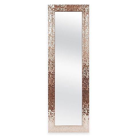 Make The Back Of Any Door More Dazzling With The Sequin Over The Door Mirror  By Door Solutions. This Easy To Hang Mirror With A Beautiful Copper Sequin  ...