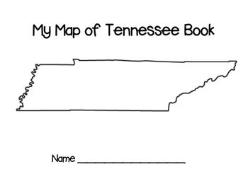 My Map Of Tennessee Book Tennessee Map Me On A Map Book Names