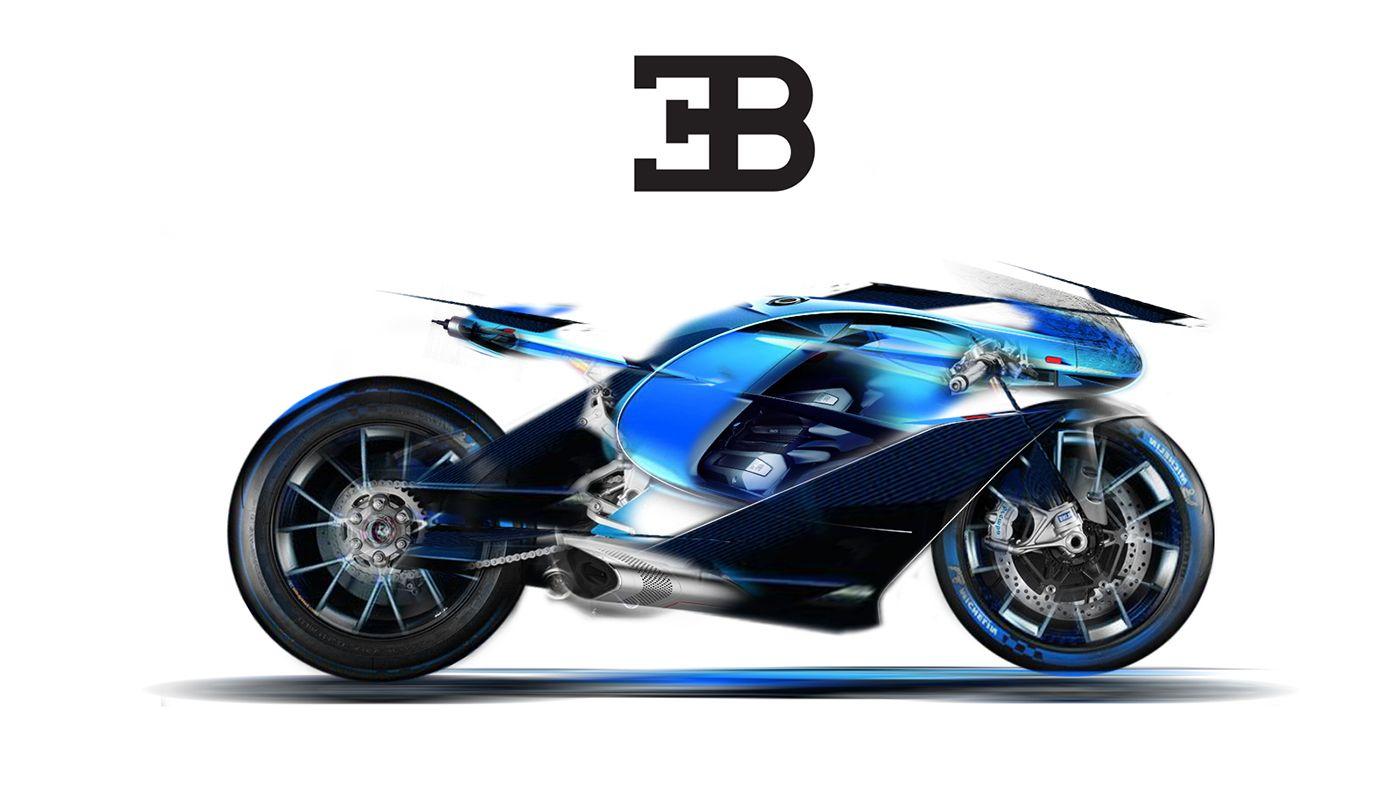 Bugatti Concept Bike Challenge On Behance Autos Motos Disenos
