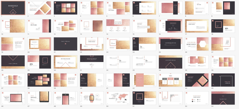 Rose Gold Powerpoint Presentation
