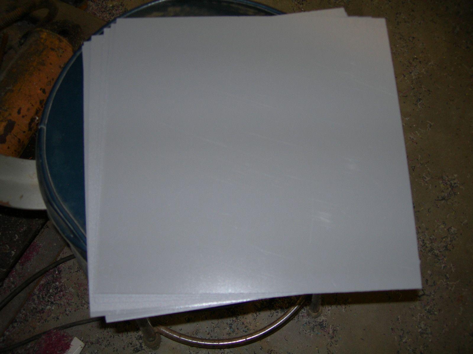 White Styrene Polystyrene Plastic Sheet 030 X 6 X 6 Light Diffusing Plastic Sheets Styrene Plastic Styrene