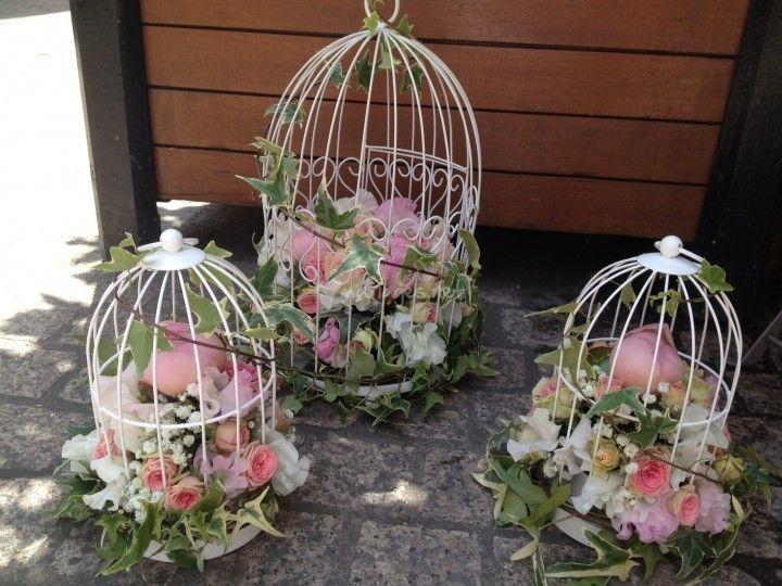 cage a oiseau centre de table de a fleurs d eau photo 1 plus