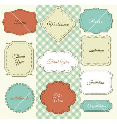 Vintage Frames On Shabby Chic Background Vector By Designer Things VectorStockR
