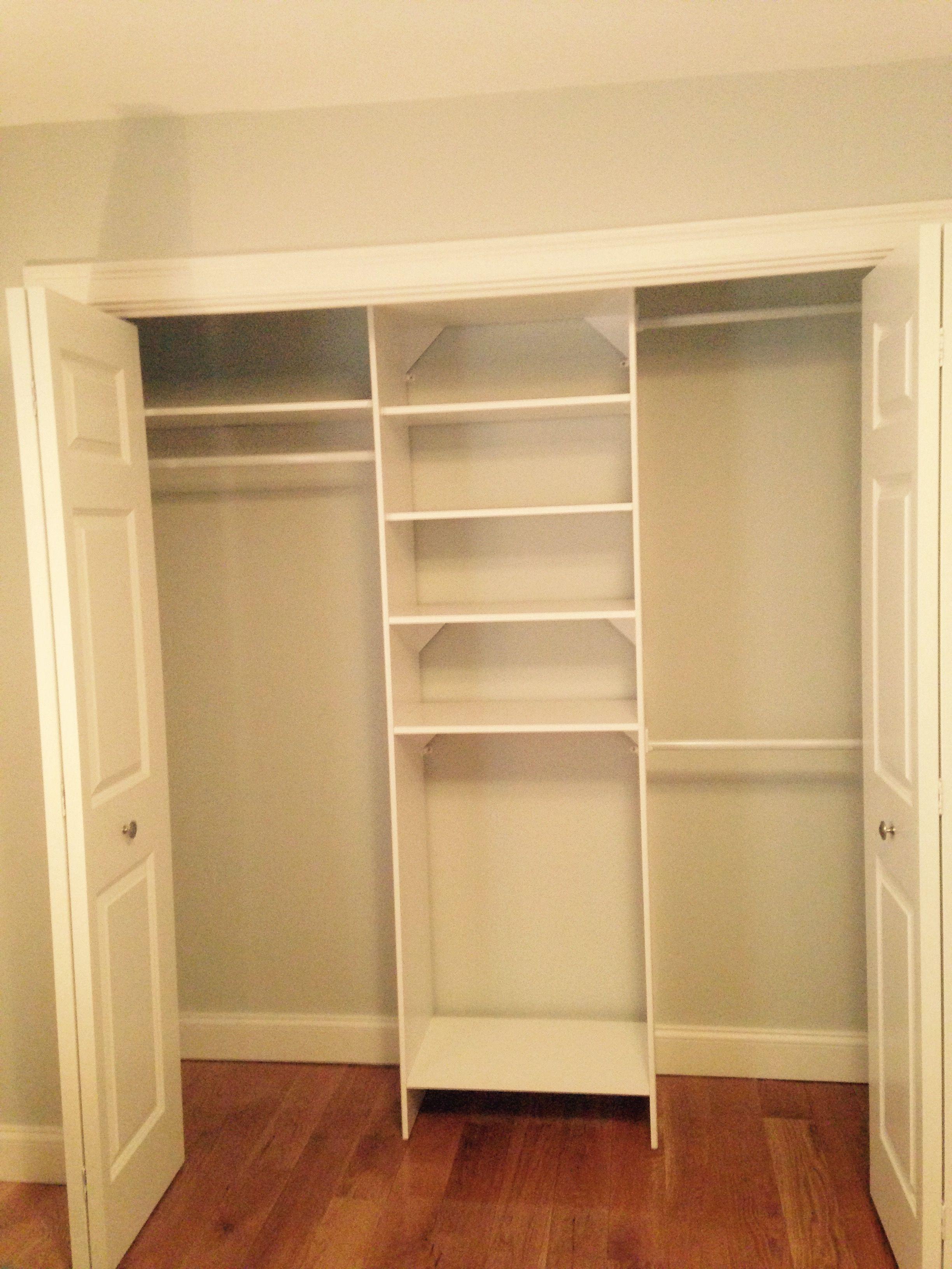 Closetmaid Selectives 14.5 In. X 25 82.5 White Custom Laminate Closet System