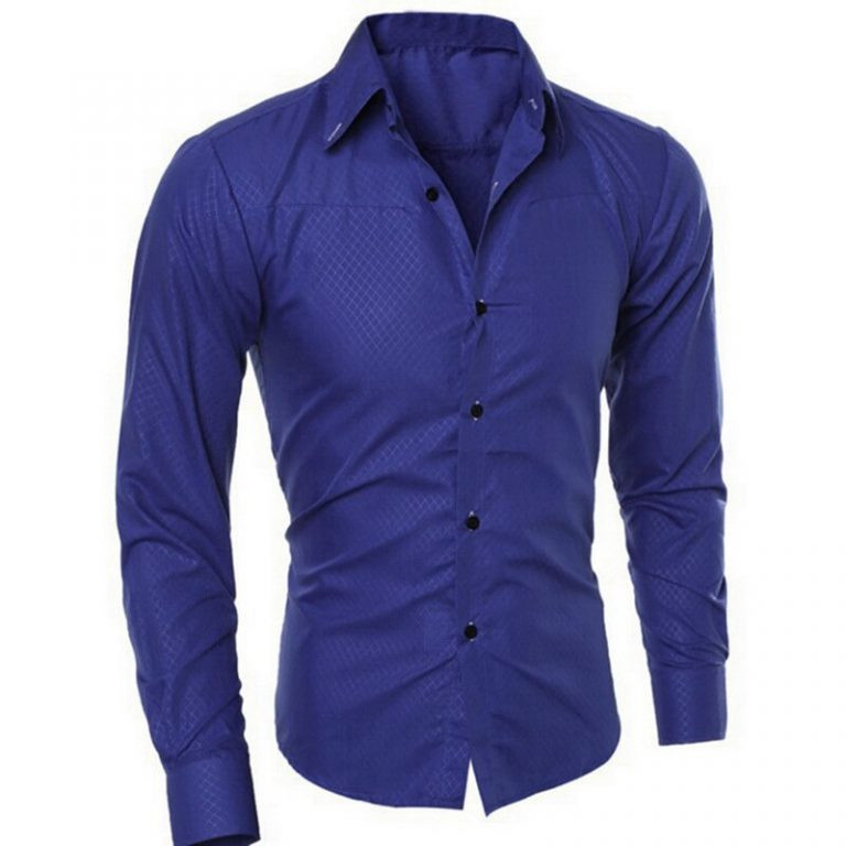 Casual Long Sleeve Formal Slim Basic Business Dress Shirts