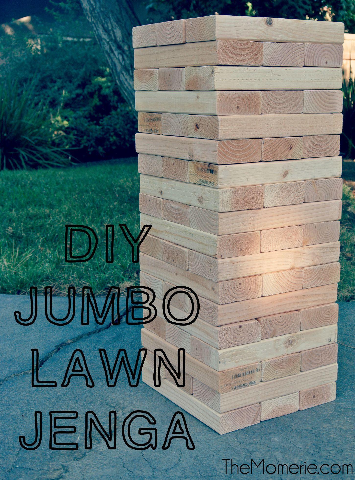 DIY Jumbo Lawn Jenga | The Momerie | Jenga diy, Yard jenga ...