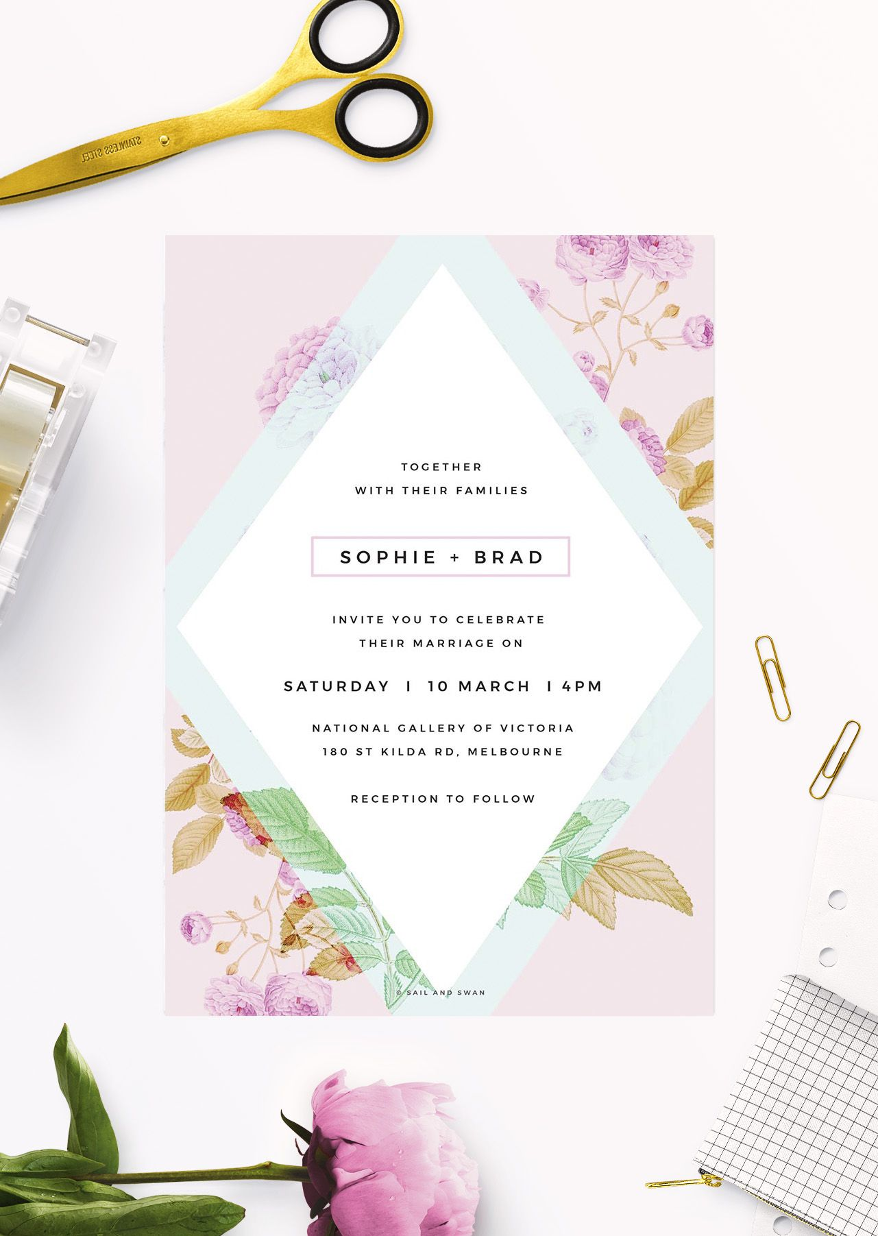 Online Shop Floral Wedding Invitations Wedding invitations