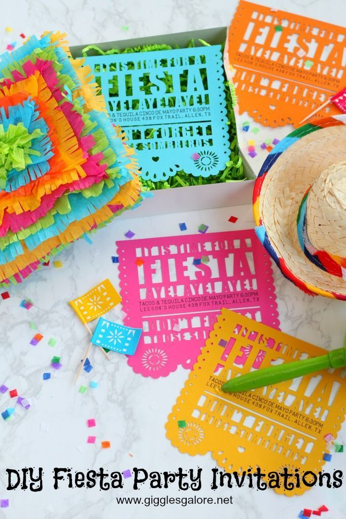 Diy Fiesta Invitation For Cinco De Mayo Fiesta Invitations