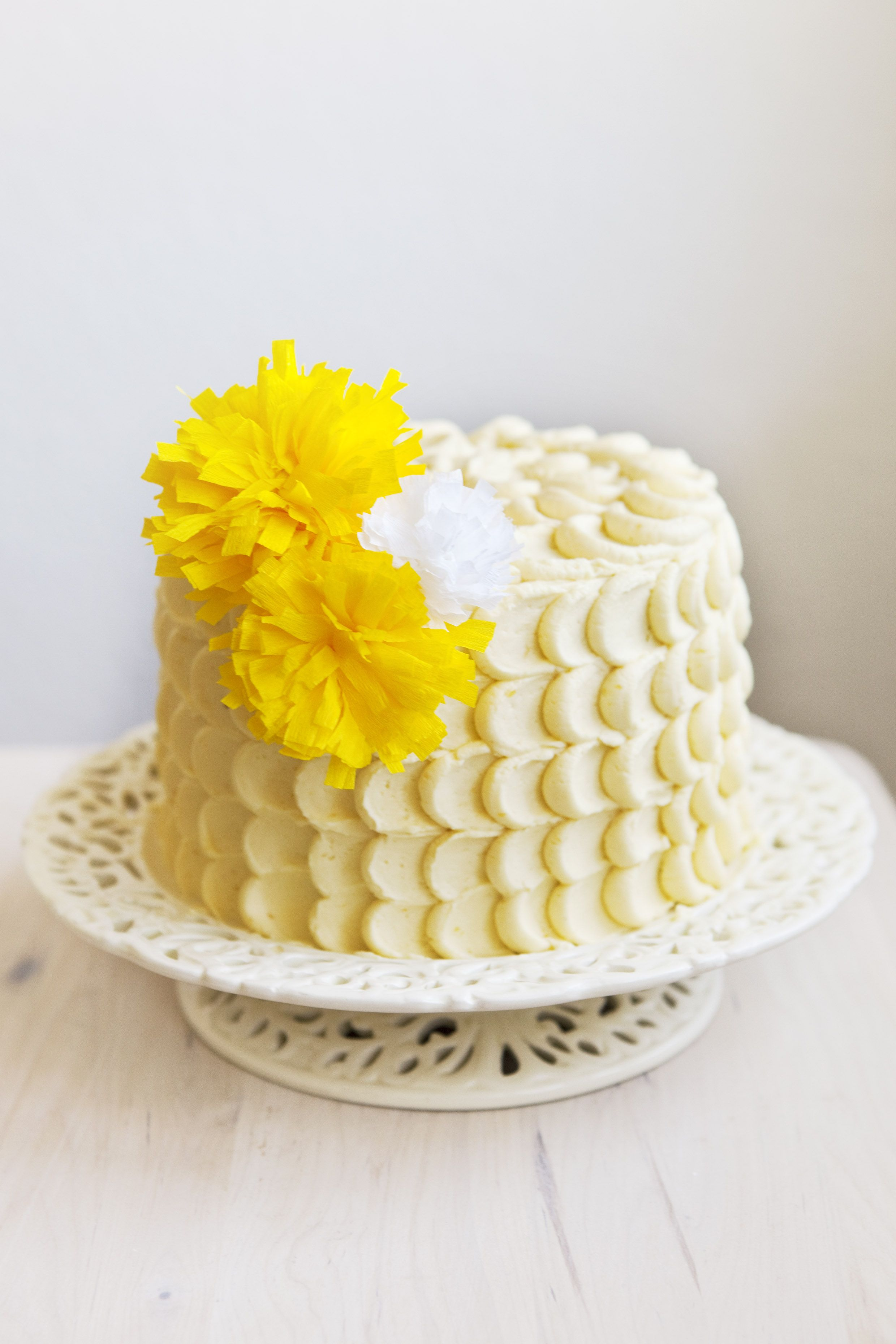 Passion Fruit Lemon Birthday Cake Partyparty Pinterest
