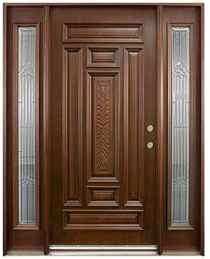 Hand carved collection solid wood entry door wood doors for Wood doors with windows