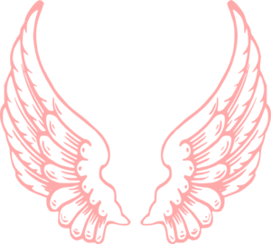 Wings pink. Clip art vector clipart