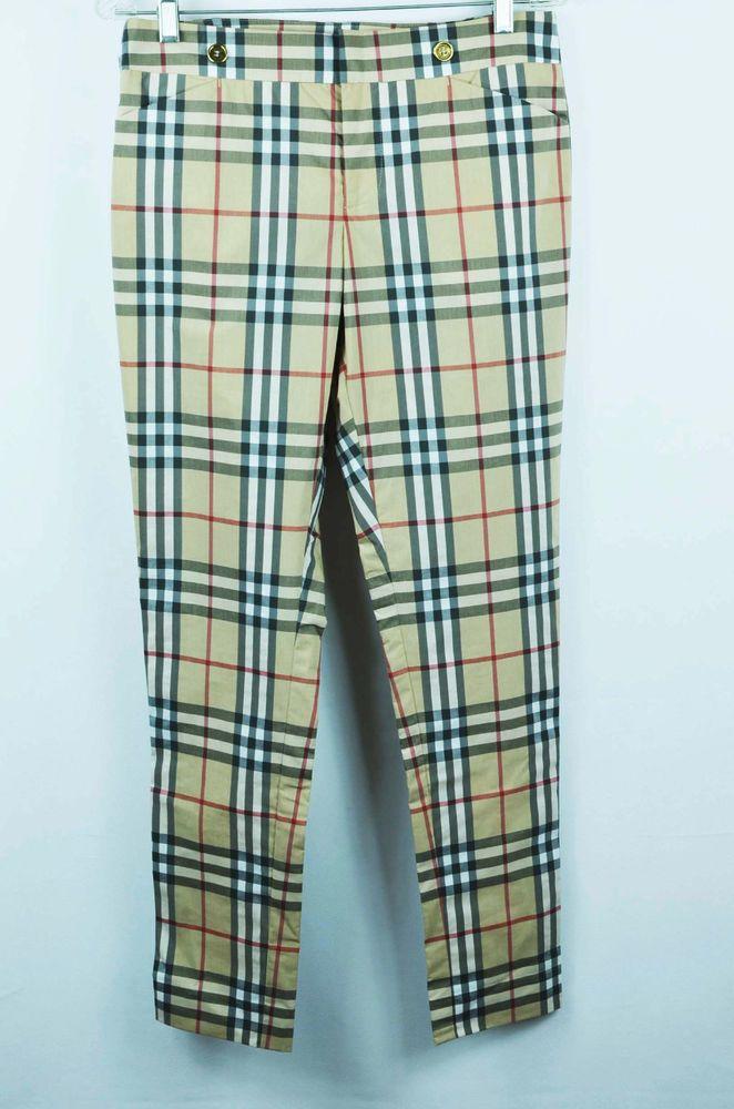 4d85f3e75b New Authentic BURBERRY Classic Nova Check Casual Trouser Pants Size ...