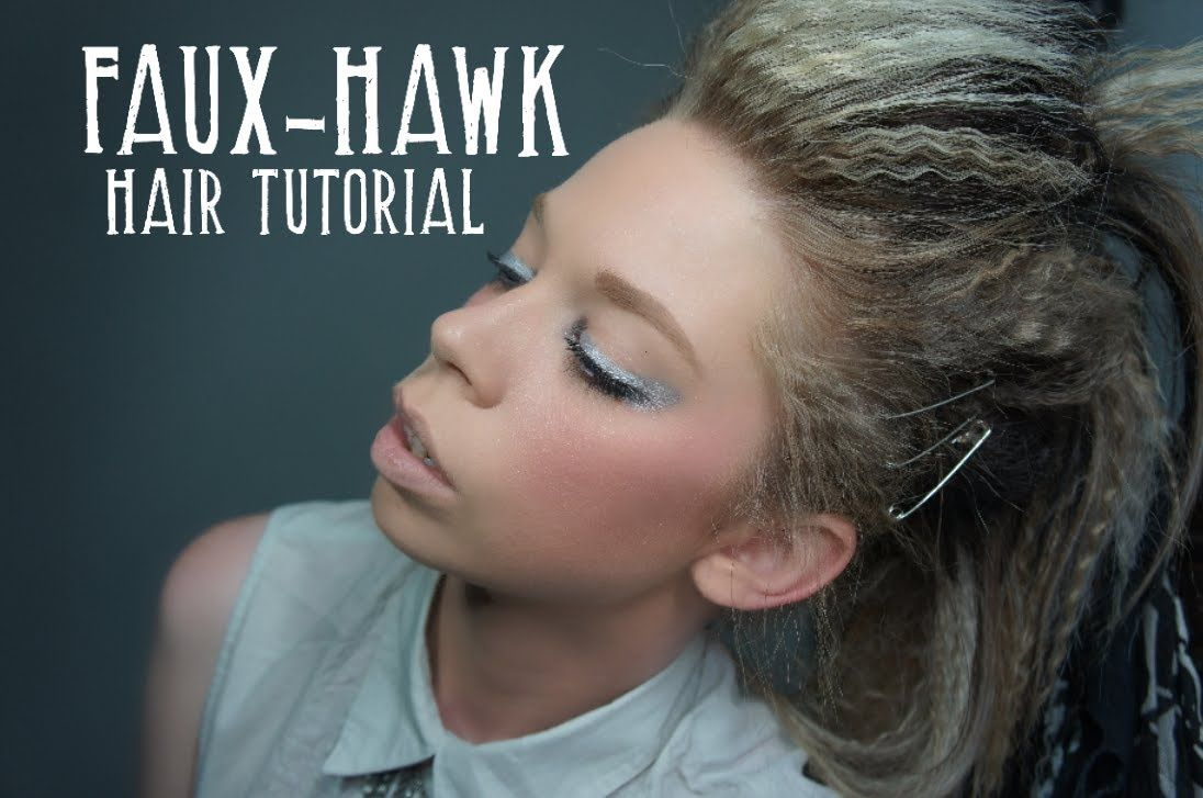 Fauxhawk hair tutorial by bunnygravyardgirl swampfamily