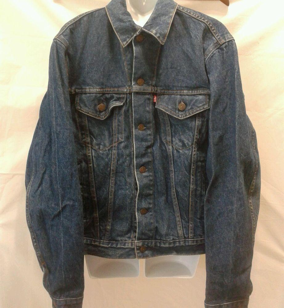 Levis Denim Trucker Jean Jacket 44l Denim Coat Jacket Jackets Big Tall Jeans [ 1000 x 922 Pixel ]