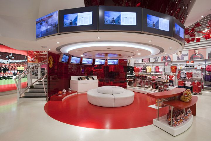 The Manchester United Experience Retail Design Boutique Interior Design Retail