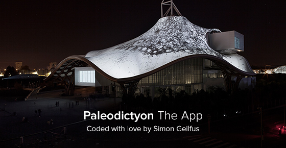 paleodictyon the app coded with love by simon geilfus projection