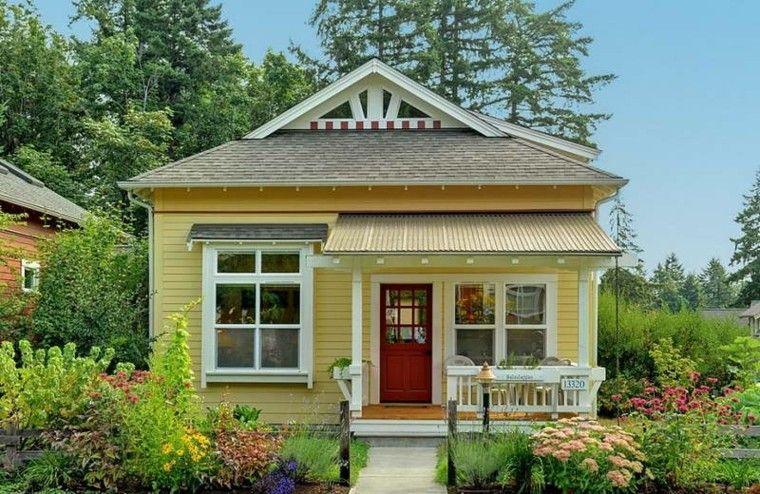 Casas Pequenas Con Encanto 38 Modelos Que Enamoran Fachada Casa Pequena Casas Pequenas Disenos De Casas