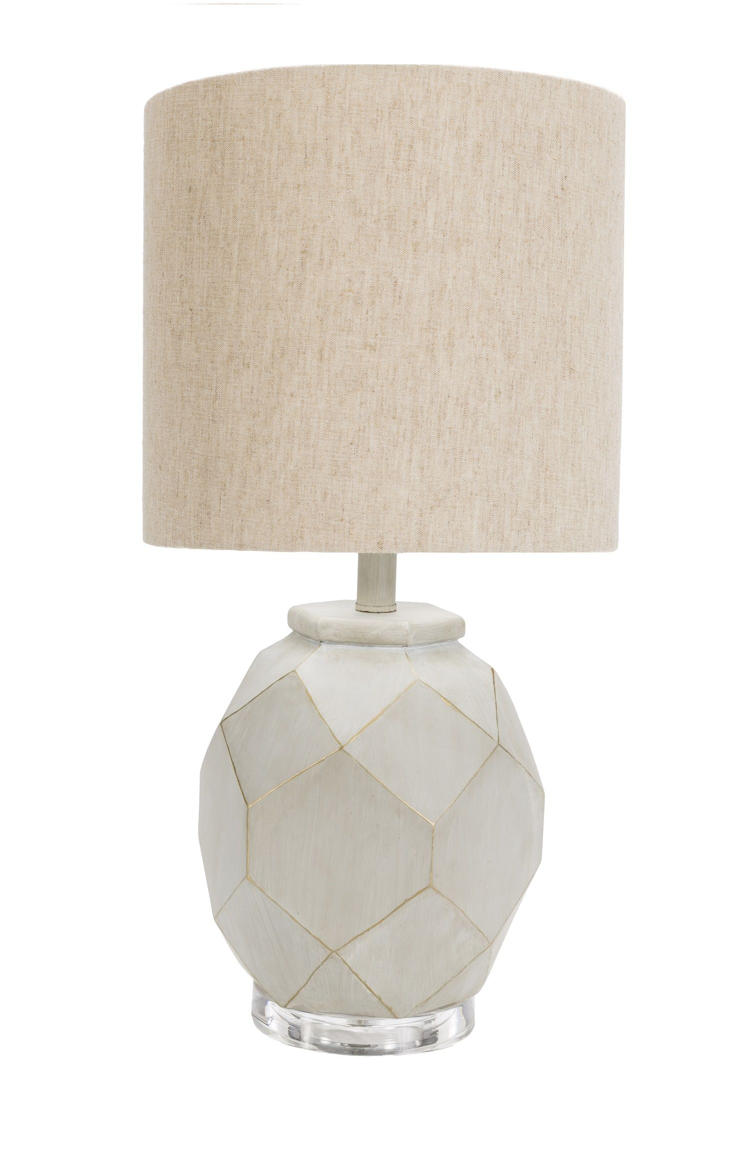 24 Abundant Kindness Eggshell White Table Lamp With Facet Look Base And Wheat Brown Drum Shade Table Lamp White Table Lamp Modern Table Lamp